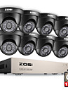 Zosi® 8ch 1080n hdmi dvr 1280tvl 720p hd sistem de securitate în aer liber CCTV supraveghere video 1tb camera set