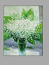 Pictat manual Natură moartă Floral/Botanic Vertical,Modern Pastoral Un Panou Canava Hang-pictate pictură în ulei For Pagina de decorare