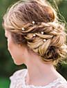 Aliaj Imitație de Perle Diadema-Nuntă Ocazie specială Informal Εργαλείο μαλλιών Ac de Păr Păr Stick 20 Piese