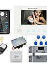 mountainone 7 inch sistem de telefon ușă parola rfid interfon video camera soneria de la intrare 1000tvl picătură electric de blocare bolț