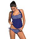 Femei Tankini Femei Cu Susținere Talie Înaltă Monocolor Sport Dantelat Polyester Spandex