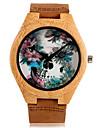 Ceas Sport Ceas Elegant Ceas La Modă Ceas de Mână Ceas Brățară Ceas Lemn Quartz Japonez Punk Piele Autentică BandăVintage Schelet Charm