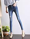 semn de primăvară 2017 noi picioare de sex feminin talie înaltă gaura genunchi blugi pantaloni de mari dimensiuni chilot