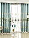 Două Panouri Tratamentul fereastră European , Floare Dormitor Poliester Material perdele, draperii Pagina de decorare For Fereastră