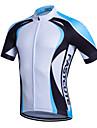 fastcute Maillot de Cyclisme Homme Manches courtes Velo Respirable Sechage rapide Anti-transpiration Maillot Coolmax ClassiquePrintemps