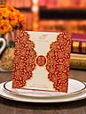 Pliat Stil Poartă Dublă Invitatii de nunta 50-Invitații Stil Flora Hârtie cărți de masă Imprimeu