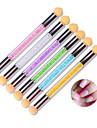 1pc nail art tool le gradient shading stylo stylo eponge double lavage peut changer de couleur aleatoire