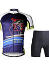 ILPALADINO Maillot et Cuissard de Cyclisme Homme Manches courtes Velo Ensemble de VetementsSechage rapide Resistant aux ultraviolets