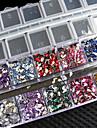 ny!!! 3000 st blanda färg teardrop nail art klistermärke ädelstenar rhinestones deco glitter vackra nagel dekoration