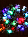 50pcs / set led rgb flash lampes ballon lumieres pour papier lanterne ballon lumiere multicolore blanc bleu mariage mariage decoration