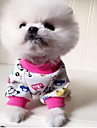 Chat Chien Pyjamas Vetements pour Chien Mignon Decontracte / Quotidien Animal Orange Rouge Bleu Rose