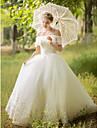 Salon Vestido de novia - Elegante y Lujoso Centello y Brillo Hasta el Suelo Hombros al Aire Tul conApliques Cuentas
