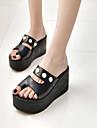 Damă Papuci & Flip-flops Primăvară Vară Confortabili Pantofi Club Imitație de Piele Rochie Casual Toc Pană Perle