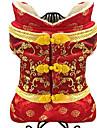 Chien Combinaison-pantalon Vetements pour Chien Mignon Brodee Noir Rouge