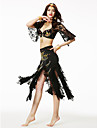 Shall We Belly Dance Outfits Women Sequined 2 Pieces Top Skirt