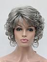 nouveaux cheveux synthetiques gris moyen boucles ondule perruque courte pleine des femmes pour tous les jours