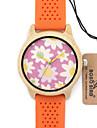pentru Doamne Ceas La Modă Unic Creative ceas Ceas Casual Ceas Lemn Ceas de Mână Japoneză Quartz Quartz Japonez de lemn Silicon Bandă