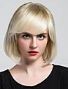 Belles perruques capless courtes cheveux lisses avec des perruques pour les humains