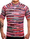 Maillot de Cyclisme Homme Manches courtes Velo Maillot Sechage rapide Respirable Anti-transpiration Coolmax LYCRA® Classique Ete
