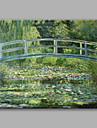 Peint a la main Paysage Format Horizontal,Contemporain Classique & Intemporel Un Panneau Toile Peinture a l\'huile Hang-peint For