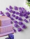 40 coacere Mold Αριθμοί Scrisă tort pentru Cookie Plastic DIY Nelipicios Crăciun Halloween ziua îndragostiților