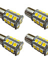 4pcs 1156 ba15s / bay15d 1157 3w ampoule de voiture led 27 smd 5050 lumiere de queue / frein / tour / stop lumiere dc 12v blanc / blanc
