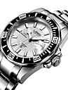 Bărbați Ceas La Modă ceas mecanic Mecanism automat Rezistent la Apă Oțel inoxidabil Bandă Argint Orange