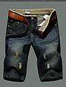 Bărbați Zvelt Picior Larg Simplu Talie Medie,Micro-elastic Pantaloni Scurți Pantaloni Mată