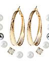 Pentru femei Cercei Stud Cercei Picătură Cercei Set Geometric La modă Personalizat Multi-moduri Wear Euramerican Ștrasuri Bijuterii Pentru