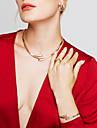 Pentru femei Seturi de bijuterii Cercei Brățară Inel Design Basic Design Unic La modă European stil minimalist costum de bijuterii Ștras