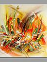 Pictat manual Floral/Botanic Modern/Contemporan Un Panou Canava Hang-pictate pictură în ulei For Pagina de decorare