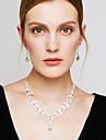 Seturi de bijuterii Cercei Toroane Coliere La modă Elegant Zirconiu Cubic Ștras Argilă Diamante Artificiale Lacrimă AlbColiere