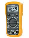 hyelec multifuncțional ms8233c mini multimetru digital w / încercare de temperatură& lumină înapoi
