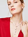 Pentru femei Lănțișoare Y-Coliere Y în formă Minge Plastic La modă Lung Personalizat Argintiu Bijuterii PentruPetrecere Halloween Zilnic