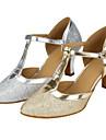 Femme Modernes Paillette Sandale Spectacle Paillette Talon Cubain Or Argent 5,1 a 7cm Personnalisables