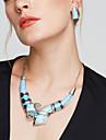 Seturi de bijuterii Cercei Stud Coliere cu Pieptar La modă European Bijuterii Statement Argilă Bijuterii Albastru CurcubeuColiere