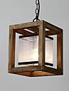 Seule tete peinture vintage caracteristique mini style bois / bambou avec lampe a chandelier en verre pour la salle d\'entree / salon /