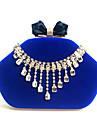 L.west femeie de moda de lux de înaltă calitate diamant ciucure geanta de catifea seara