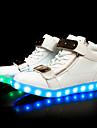 Bărbați Adidași Tălpi cu Lumini Pantofi Usori Toamnă Iarnă TPU Casual Party & Seară LED Toc Jos Alb Negru Sub 2.5 cm