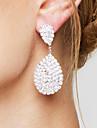 Pentru femei Fete Cercei Picătură Ștras bijuterii de lux costum de bijuterii de Mireasă Elegant Ștras Argilă Picătură Lacrimă Bijuterii