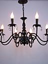 Stil european cristal lumânare lampă cameră de zi lampă sala de mese dormitor magazin de îmbrăcăminte lămpi și felinare decor lampă