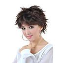 nadolijevanja kratko visoke kvalitete sintetička narav izgled svijetlo smeđe ravne kose perika