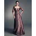 Lanting Bride® A-Linie Větší velikosti / Malé Šaty pro matku nevěsty - Včetně bolerka Na zem Poloviční rukáv Krajka / Taft - Aplikace /