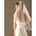 Vjenčani velovi Two-tier Elbow Burke / Veils for Short Hair Ojačani rub 33.46 u (85cm) Til Bijela / Slonovača / ŠampanjacRetka, Ball