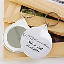 osobní zrcadlo kroužek na klíče - jíst pít a být ženatý (sada 12)