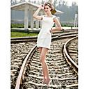 Lanting Bride® Kroj uz tijelo Sitna / Veći brojevi Vjenčanica - Šik i moderno / Za prijem Male bijele vjenčanice Kratki / mini Kvadrat