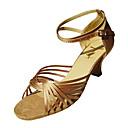 Non Přizpůsobitelné - Dámské - Taneční boty - Latina / Taneční sál - Satén - Jehlový podpatek - Černá / Zlatá / Červená
