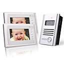 2つの7インチのカラーTFT LCDビデオドア電話インターホンシステム(1合金カメラ)