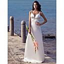 Lanting Bride® Kroj uz tijelo Sitna / Veći brojevi Vjenčanica - Šik i moderno Jako kratki šlep Naramenice Rastezljivi saten s Perlice