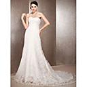 Lanting Bride® A-kroj / Princeza Sitna / Veći brojevi Vjenčanica - Elegantno i luksuznoProljeće 2013 / Vintage inspirirano / Čipkasti
